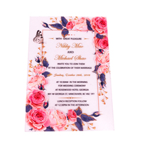 Customized Acrylic Wedding Invitation Card With Printing