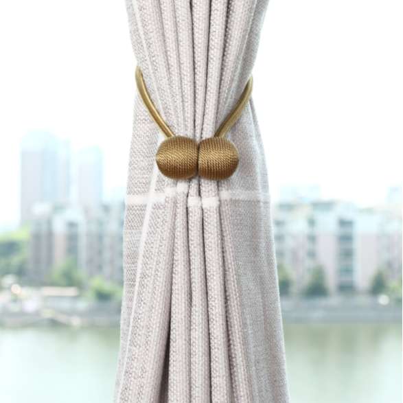 1 pair glod magnetic curtain tie backs for home