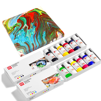 acrylic puring paint set rock painting diy kit effects acrylic pouring paint kit