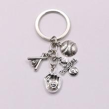 Я Люблю Футбол/Бейсбол/Баскетбол персонализированный брелок для ключей буквы A-Z с обувью брелок подарок для автомобиля брелок аксессуар Cheer(Китай)