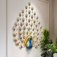 Auditorium Lobby Porch 3D Peacock Modeling Wall Hanging Art Decoration