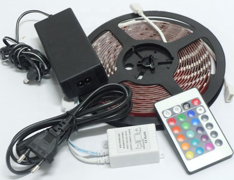 Hot sales Cheap IP65 outdoor 12V 24V SMD5050 RGB Led Strip Light