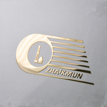 Custom Elektrovorming Nikkel Metalen <span class=keywords><strong>Sticker</strong></span> Fashion Shiny Gold Metal Logo <span class=keywords><strong>Sticker</strong></span>