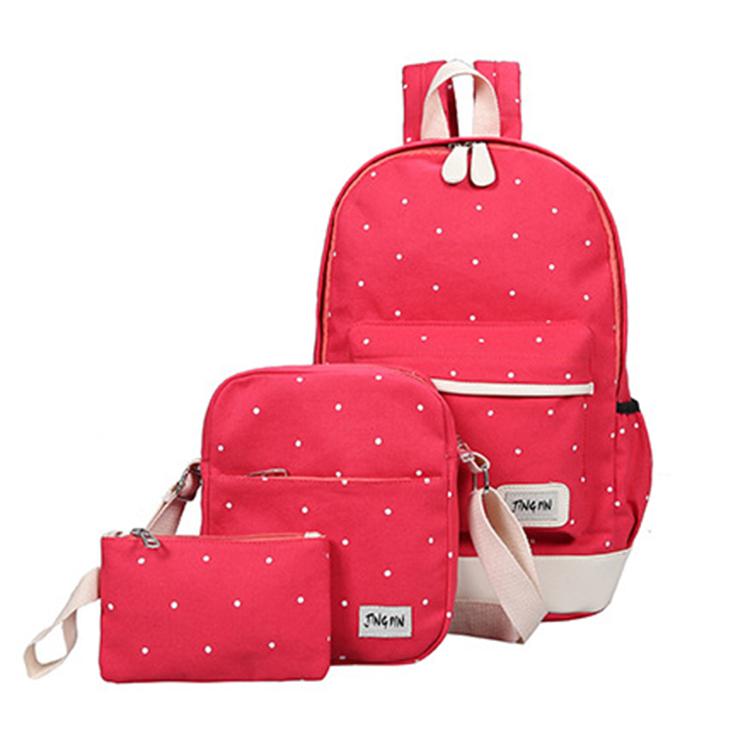 New design durable canvas wholesale cheap soft kids school bag set