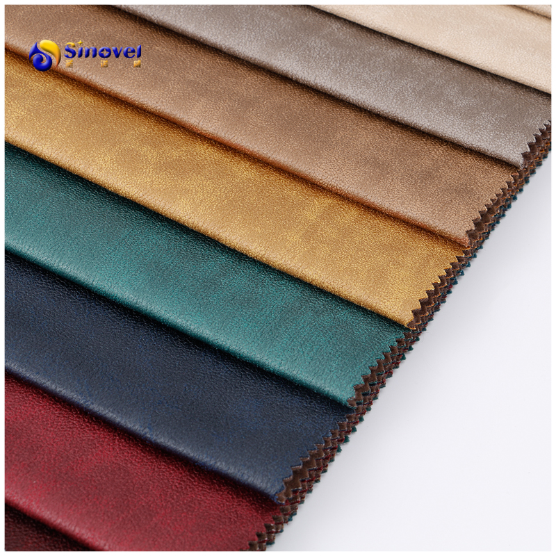 hot sale 100% Polyester  Bronzed pattern Suede Fabric For Sofa cover