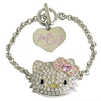 Jewelry Fashion cat cute lovely custom design pulseras for kids children gift present Rhinestone diamond pave Bracelet jewelry