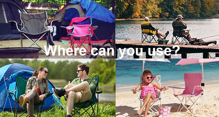 Wholesale China Chairs Easy-carrying OEM Outdoor Cheap Metal Picnic Beach Camping Folding Chair with Armrest sillas plegables