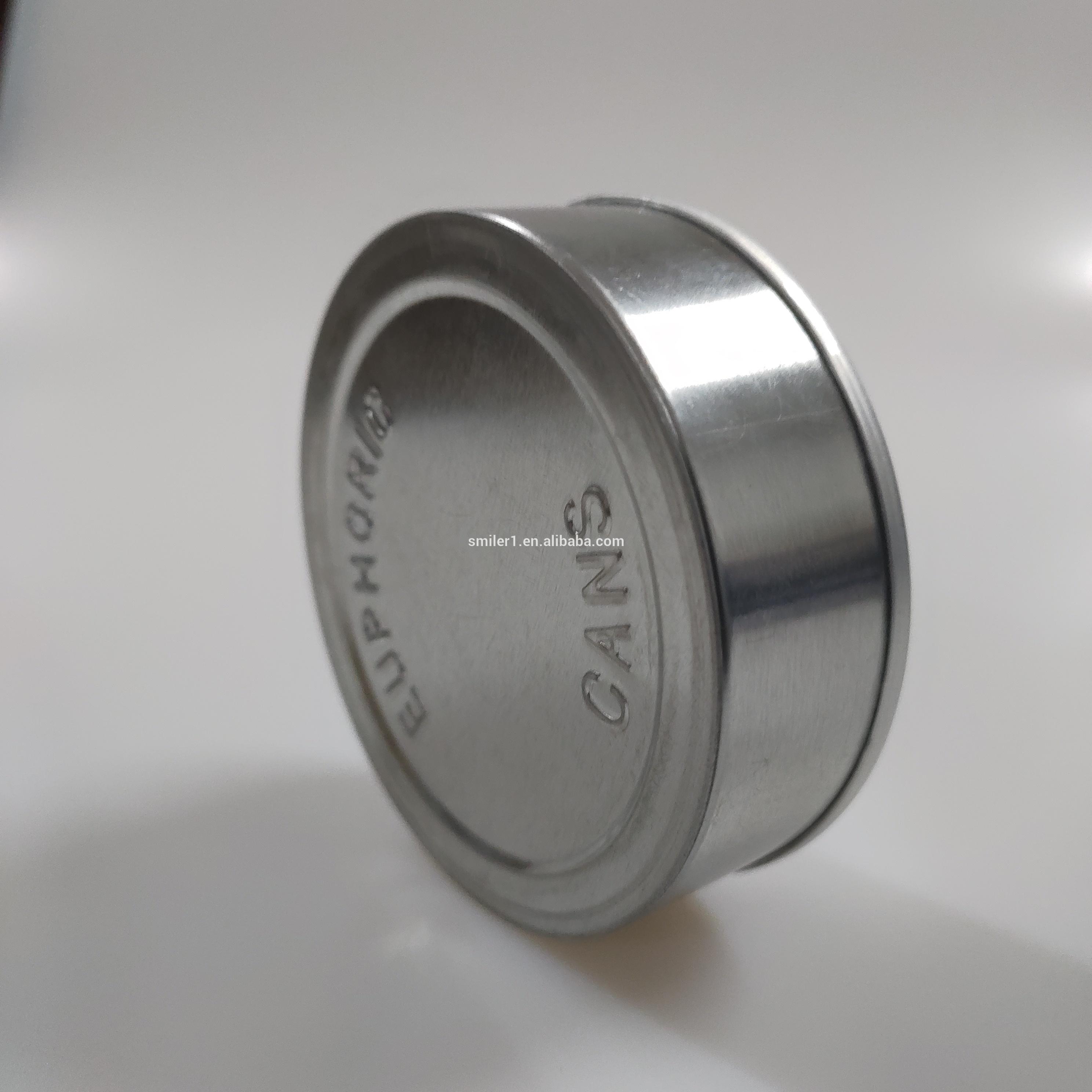Maintenez hermétique petit bidon argent mince en aluminium boisson coupe 3.5 grammes