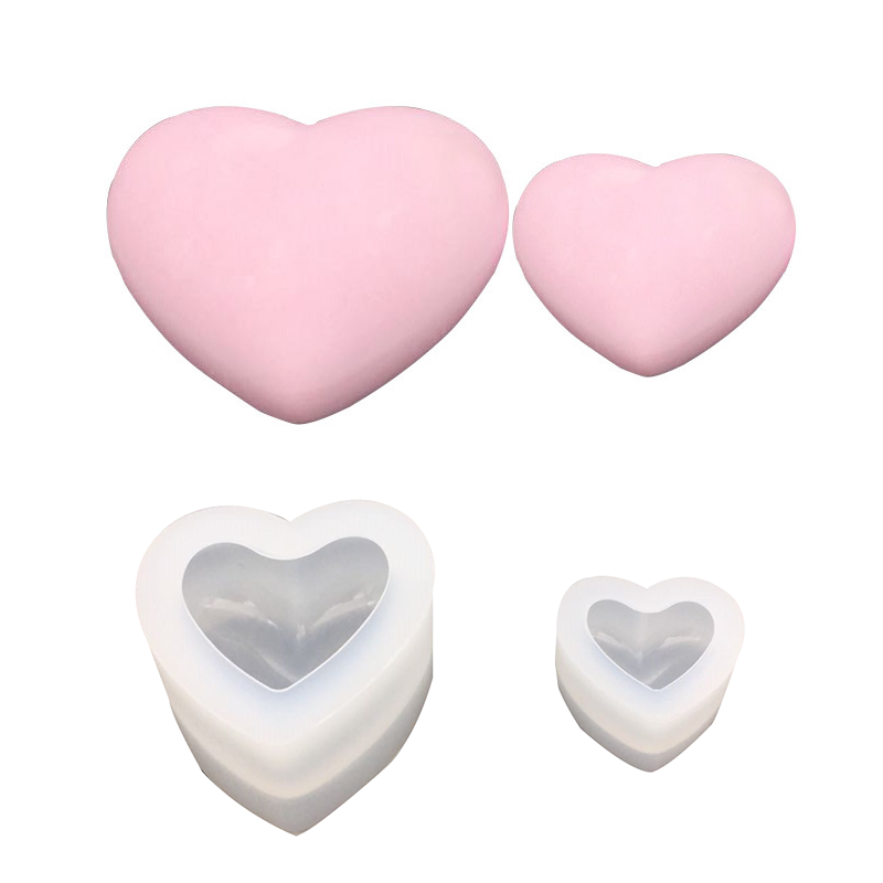 Diy crystal drop adhesive three-dimensional 3D mirror heart size silicone mold love three-dimensional love Resin silicone mold