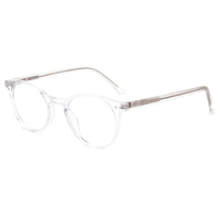 transparent optical round clear acetate eye glasses frame design