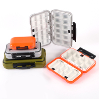 Fishing Storage Organizer Waterproof Lure Hard Box with Adjustable Dividers Fishing Tackle Storage Tray Container Tool