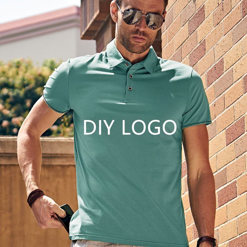 100% baumwolle Revers casual Outdoor Golf polo t shirt unisex Marke Logo Druck DIY Design
