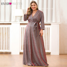 Длинное вечернее платье Ever Pretty EP07950NB, с блестками, для матери невесты, размера плюс, Саудовская Аравия, фарсали(Китай)