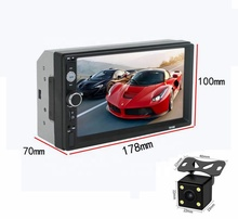7 Inch Met Achteruitrijcamera Universal Bluetooth Scherm Multimedia Radio MP5 Cd Dvd Auto Video Speler