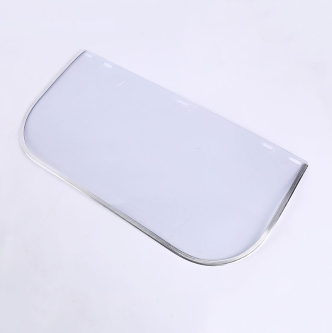 Polycarbonate mirror acid and alkali resistance adjustment welding safety protective face clear visor face cover helmet