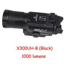 Тактический оружейный светильник X300UH-B X300U X300, светильник для вспышки, пистолет, белый светодиодный светильник для охоты, 20 мм, Пикатинни, 20 м...(Китай)