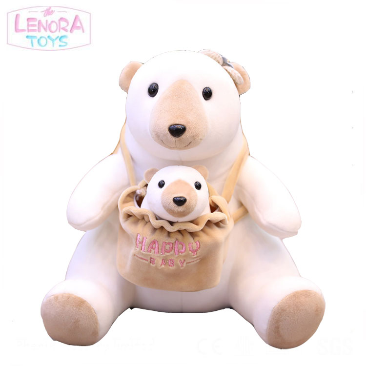 Factory direct simulation panda doll mother and child panda koala  bear plush toy company wholesale gifts customization