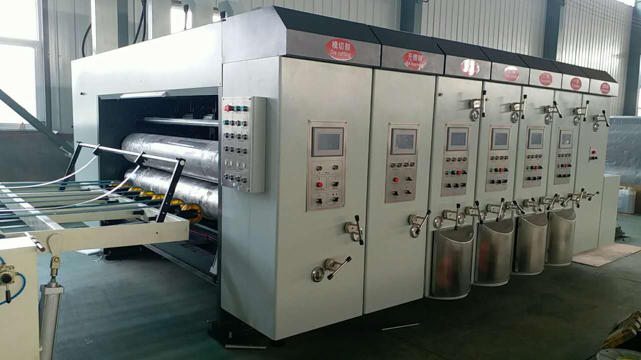 bojun 2020 corrugated carton printing slotting die cutting machine corrugated paperboard