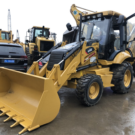 CAT 416E TLBS for sale, Caterpillar used backhoe loader in China used cat 416 420 retroexcavator