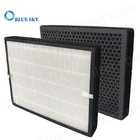 Customized 330X280X30mm Panel Honeycomb Active Carbon 2-in-1 HEPA Filter Replacement Air Purifier Parts