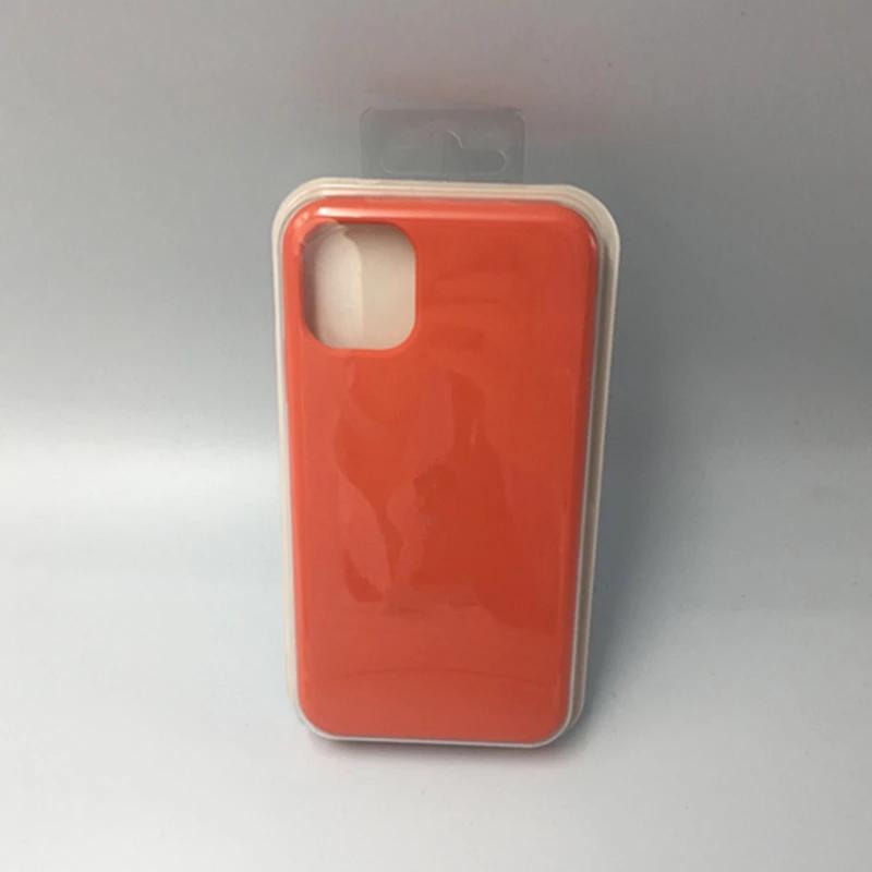 Силиконовый чехол для apple iphone 11 pro max, оригинальный официальный логотип, силиконовый чехол для iphone 11 pro