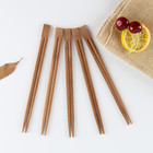 Custom printed wrapper paper sleeve Japanese sushi disposable wooden/bamboo chopsticks carbonized 21cm bamboo chopsticks