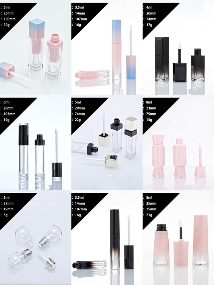 Pick your own colors for DIY vegan private label organic lipgloss with empty lipgloss tube packaging for wholesale