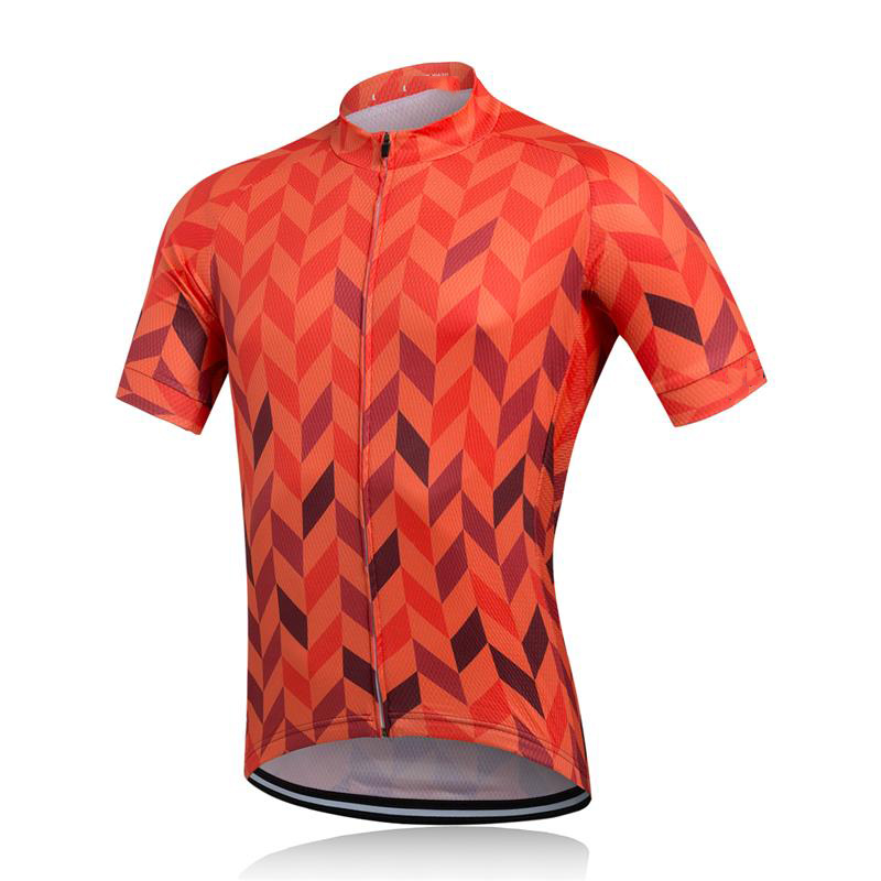 European Latest Full Sublimation Personalized Cycling Shirts Top Breathable Cycling Jersey