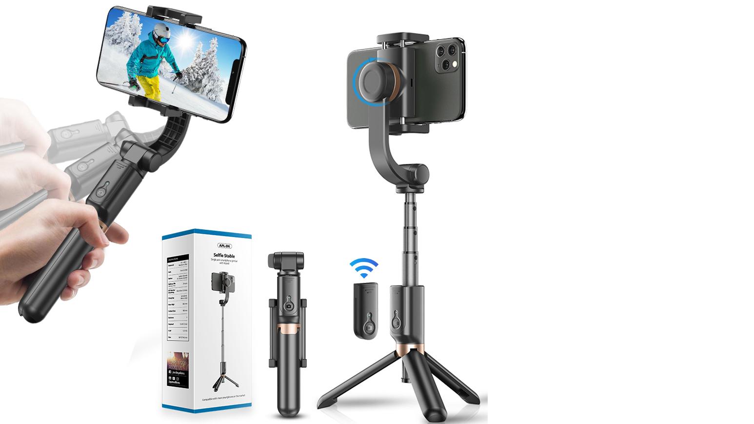 APEXEL 2020 新デザインハンドヘルド単軸携帯ジン、 vlogging キット selfie スティック三脚用スマートフォン