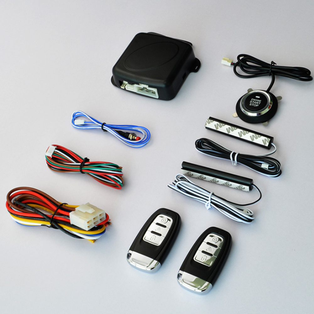 China Leverancier Groothandel PKE Remote Engine Start keyless entry push to startknop auto alarm systeem