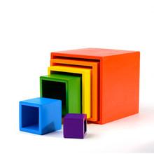 Детские игрушки, детские деревянные радужные блоки, деревянные шарики, куклы, радужные строительные блоки, Монтессори, цветная сортировка, ...(Китай)