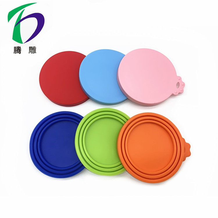 Reusable 3 in 1 Storage Container Cover Silicone cat dog pet food can cover lids