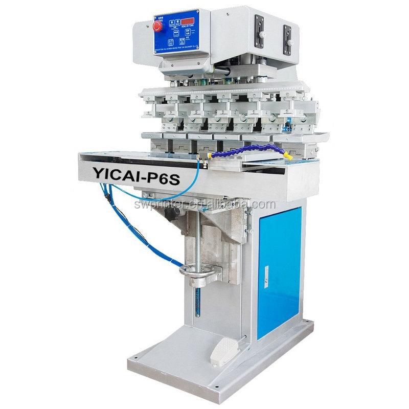 Golf ball pad printing machine pad printer 6 color balls printing equipment