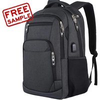 Free sample new custom anti theft large slim travel ladies business waterproof quality women backpack laptop backpack laptop bag