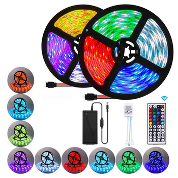 Waterproof TV Backlight 16 Color Changing Flexible 24 44KEY IR Remote ControllerI RGB SMD 5050 LED Strip Light