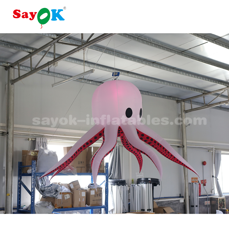 2m LED lighting giant inflatable octopus for decoration