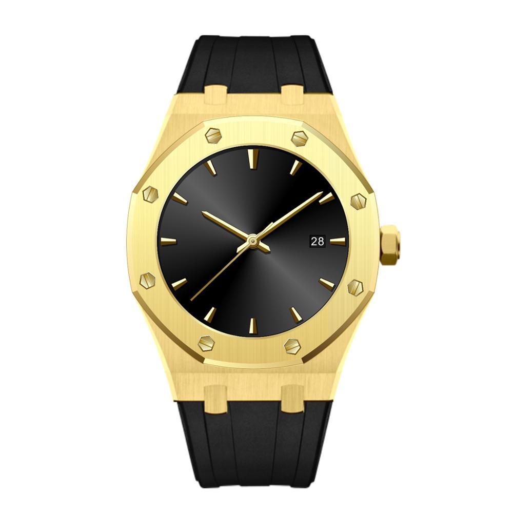 OEM logotipo personalizable de acero inoxidable reloj de lujo para hombres mujeres
