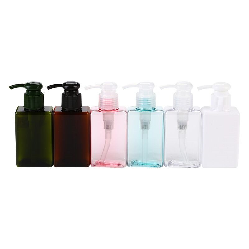 Hot Selling Makeup 150ml Square PETG Press Plastic Water Gel Facial Cleanser Lotion Bottle