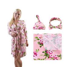 Модная сексуальная пижама с цветочным принтом, ночное платье большого размера, женская ночная рубашка, летняя ночная рубашка, банное платье...(Китай)