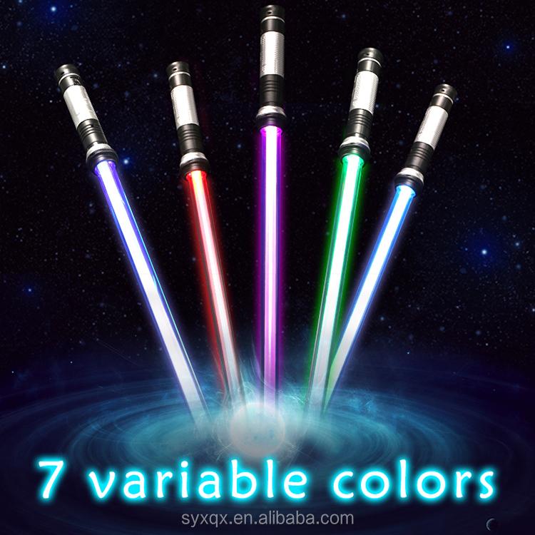 Новое поступление 2020, пластиковый светящийся световой меч Starwars Espadas разных цветов, Космический светящийся световой меч с двойными лезвиями, детская игрушка на Рождество