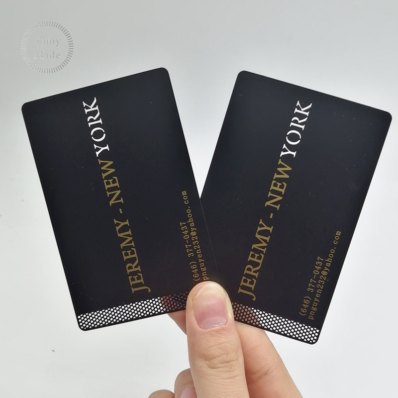 Customized personalized luxury card black metal business card