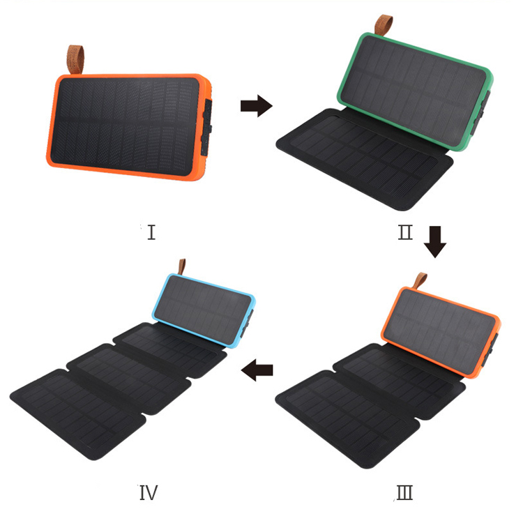 2019 Shenzhen Factory 100% Full Charging by Sunlight Customsized Mirco USB Li-polymer battery solar charger power bank portable