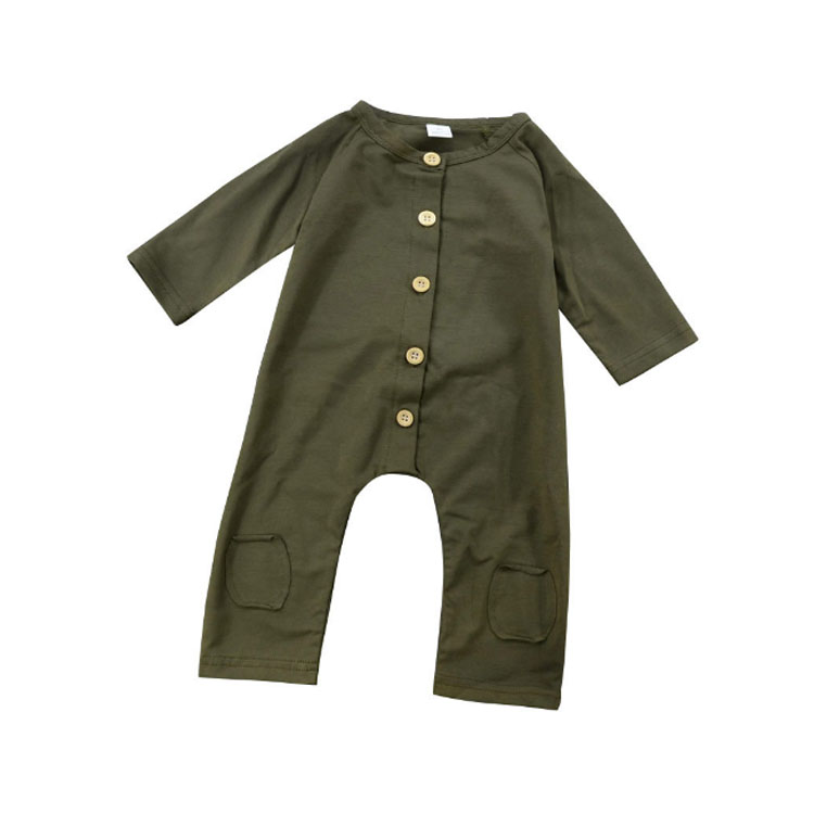 2019 new 100% cotton <strong>baby</strong> boy long-sleeved <strong>baby</strong> <strong>jumpsuit</strong> solid color <strong>baby</strong> rompers