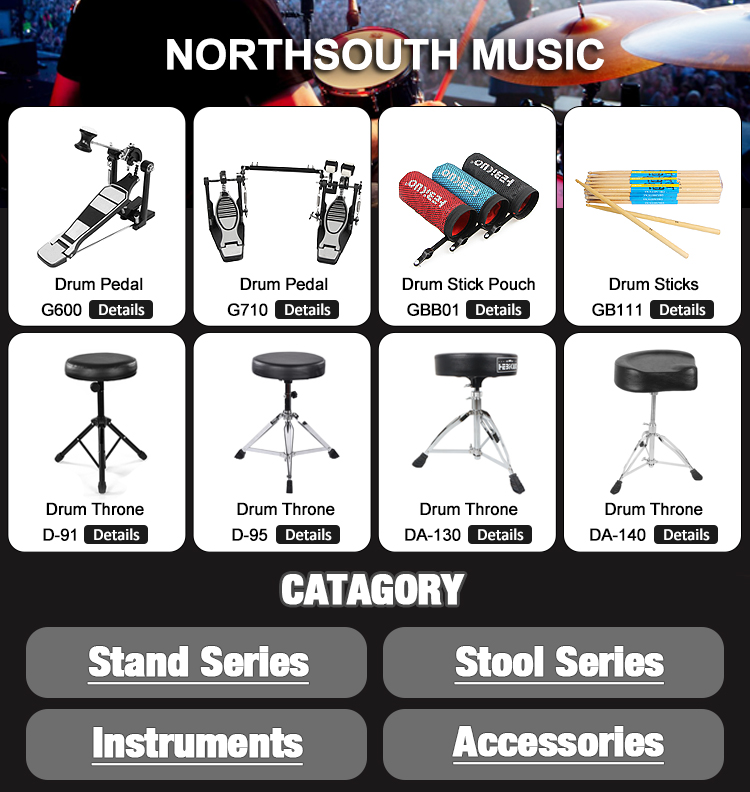 High Grade Drum Throne Music Accessories Drum Stool With Chrome Stand