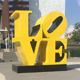Modern Outdoor Large Stainless Steel Love Sculpture