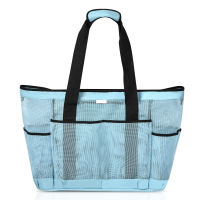 Customized Mesh Beach Tote Bag with big Pockets