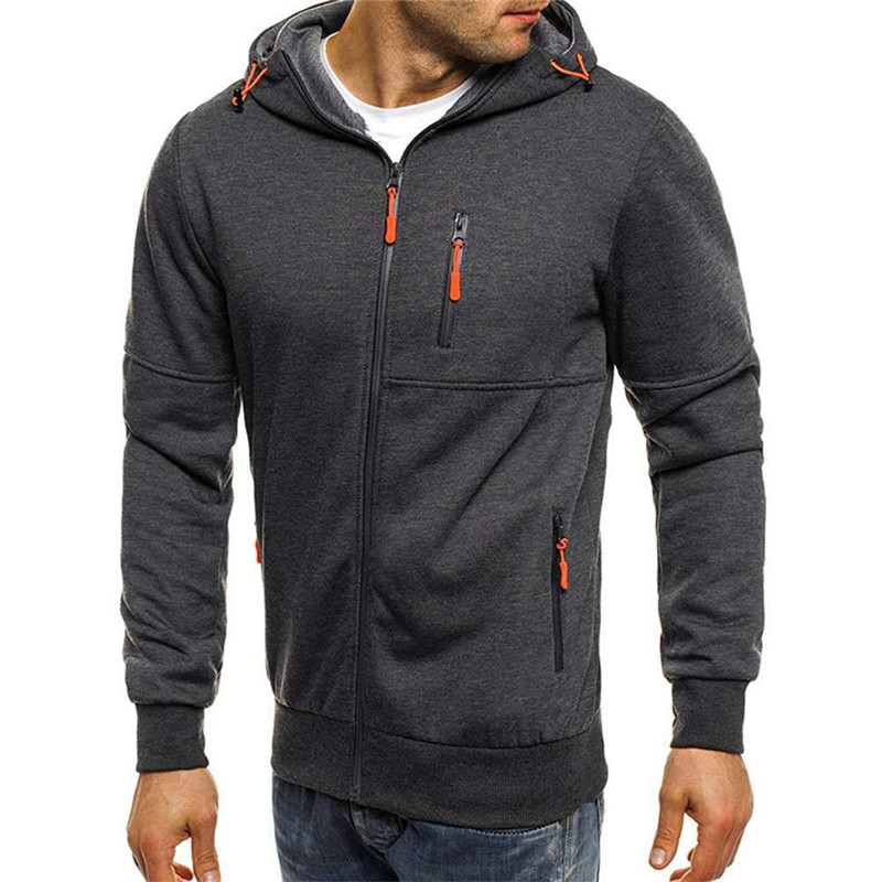 2020 New Wholesale High Quality Men Sports Fitness Casual Jacquard Cardigan Hoodie Mens Custom <strong>Zip</strong> Up Hoodie