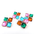 Newest design crystal snap jewelry alloy rhinestone button