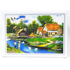 Creative idyllic cozy mountain lodge painting custom puzzle jigsaw DIY maker educational toys gift