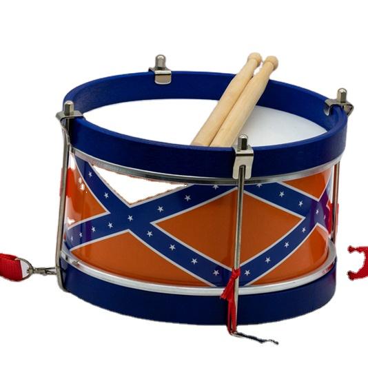 ราคาถูกจีนเด็กเครื่องดนตรีเด็กเครื่องดนตรีเด็กของเล่นไม้Snare MarchingกลองMarching Band Snare
